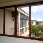 Wood finish aluminium window